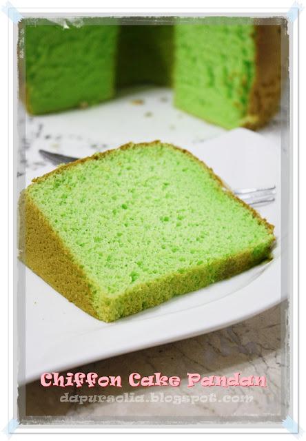 DAPUR SOLIA **: Chiffon Pandan Cake