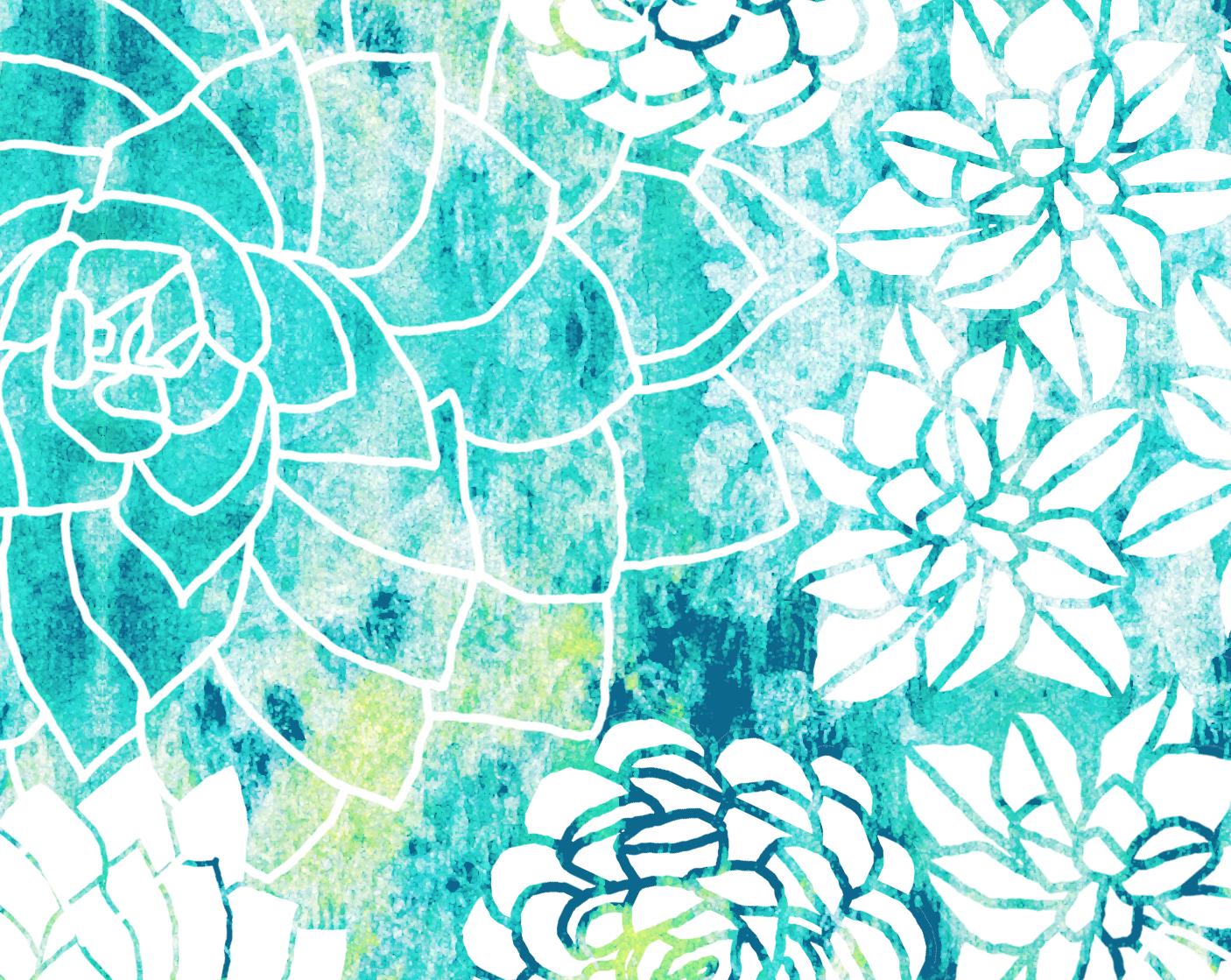 Ruby door art design watercolor succulents cool for Cool watercolour