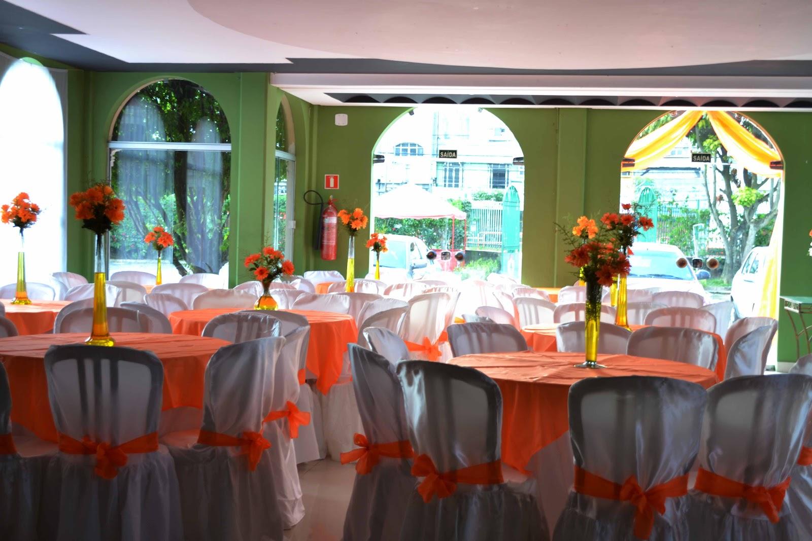 Decoração de casamento laranja e branco Deisy Reis Marketing e  #B0361B 1600x1067 Banheiro Branco E Laranja