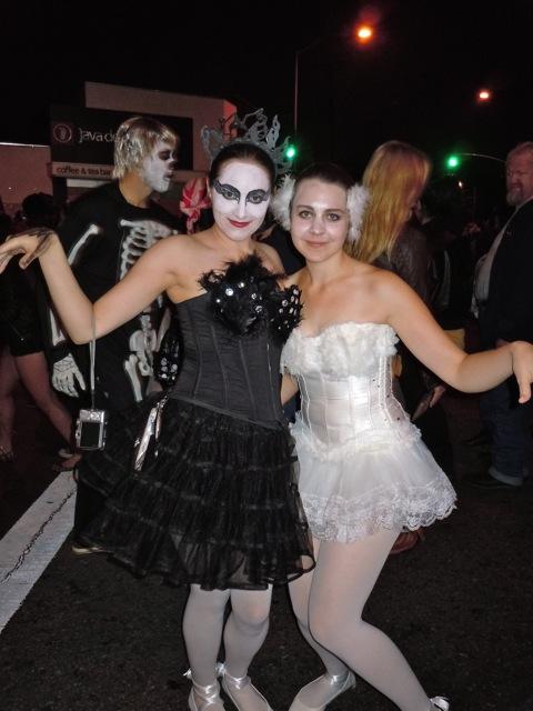 Black swan costumes WEHO Halloween Carnaval