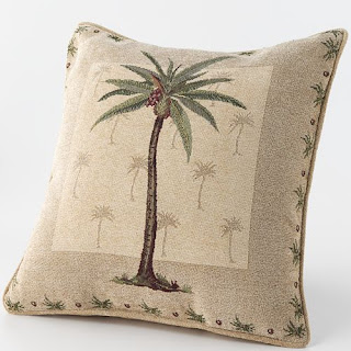 affordable palm tree tropical pillow