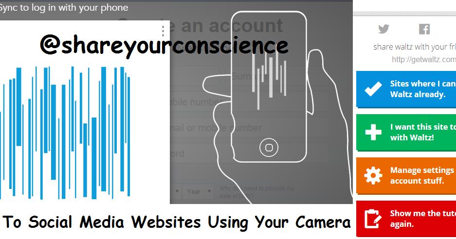 Login To Social Media Websites Using Your Camera