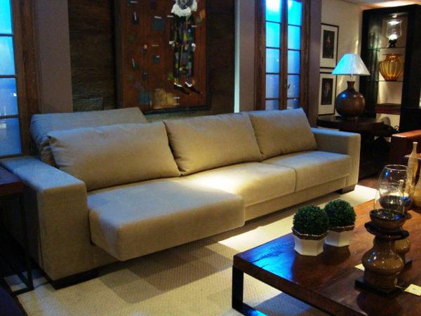 Sala pequena com sofa retratil id ias for Sofa grande sala pequena