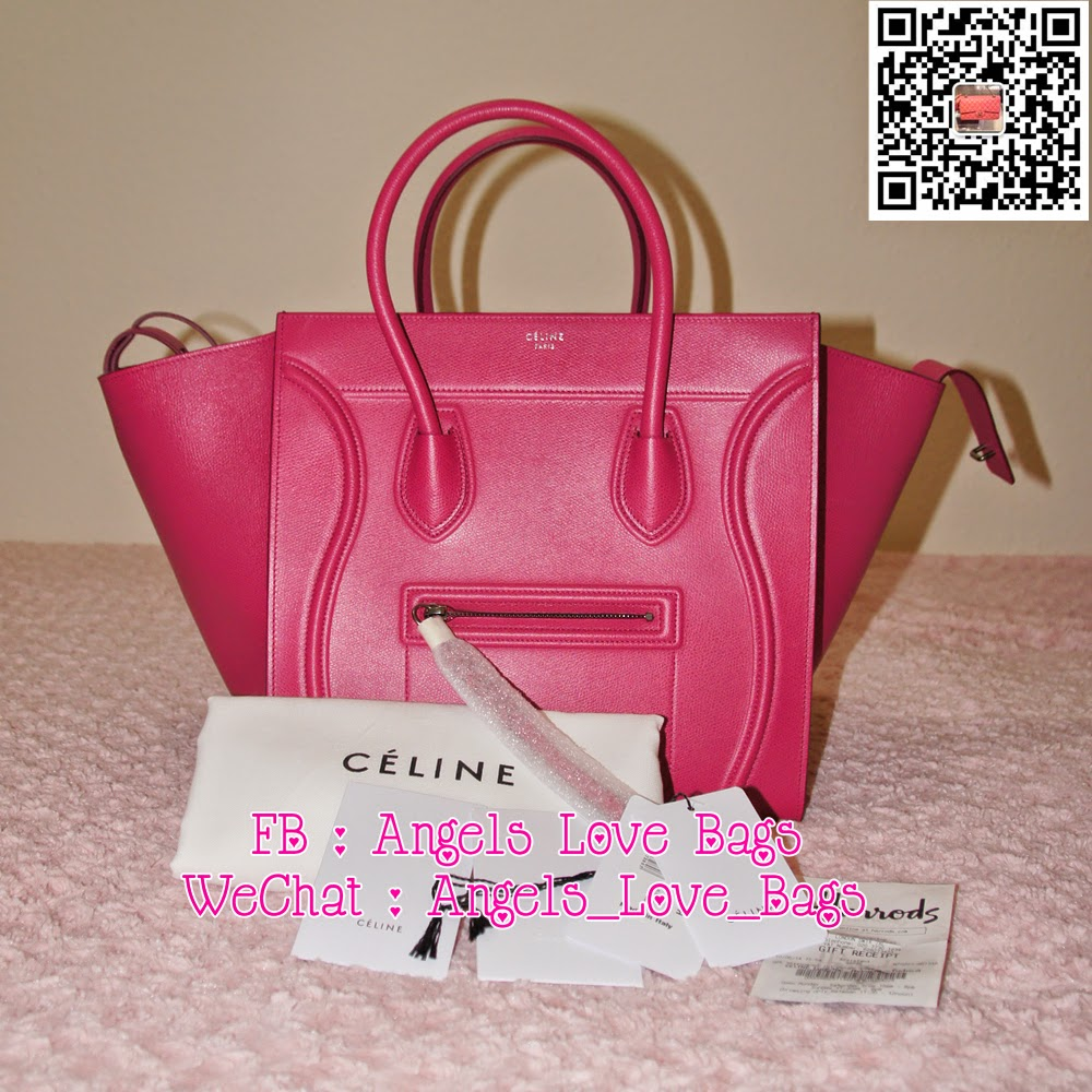 celine luggage leather bowling bag