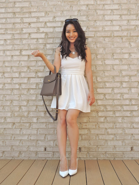 Lynn + Lace little white dress