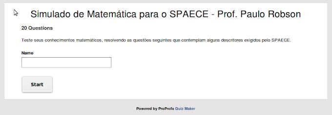Simulado de Matemática online para o SPAECE