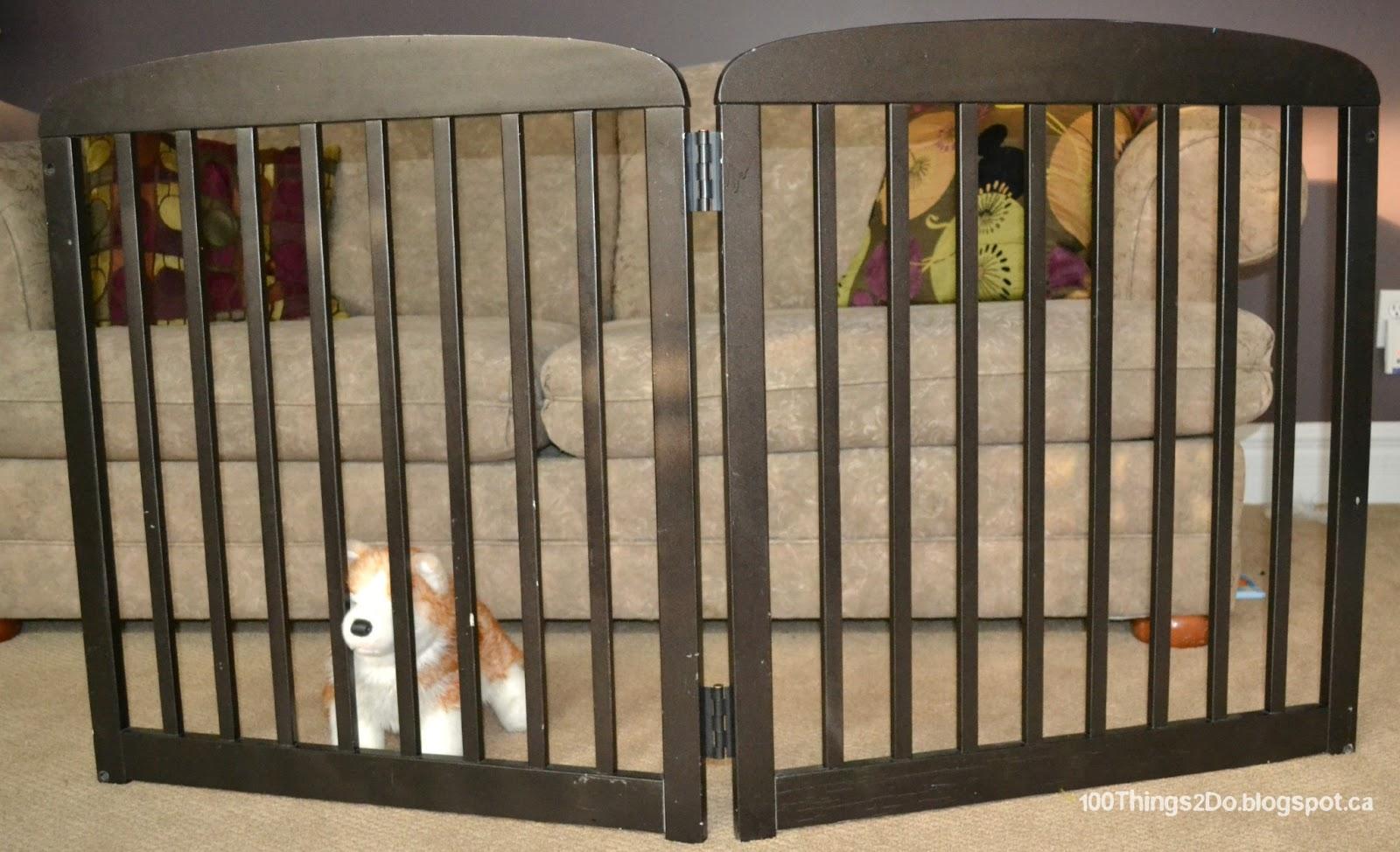 DIY - Free-Standing Pet Gate - 100 Things 2 Do