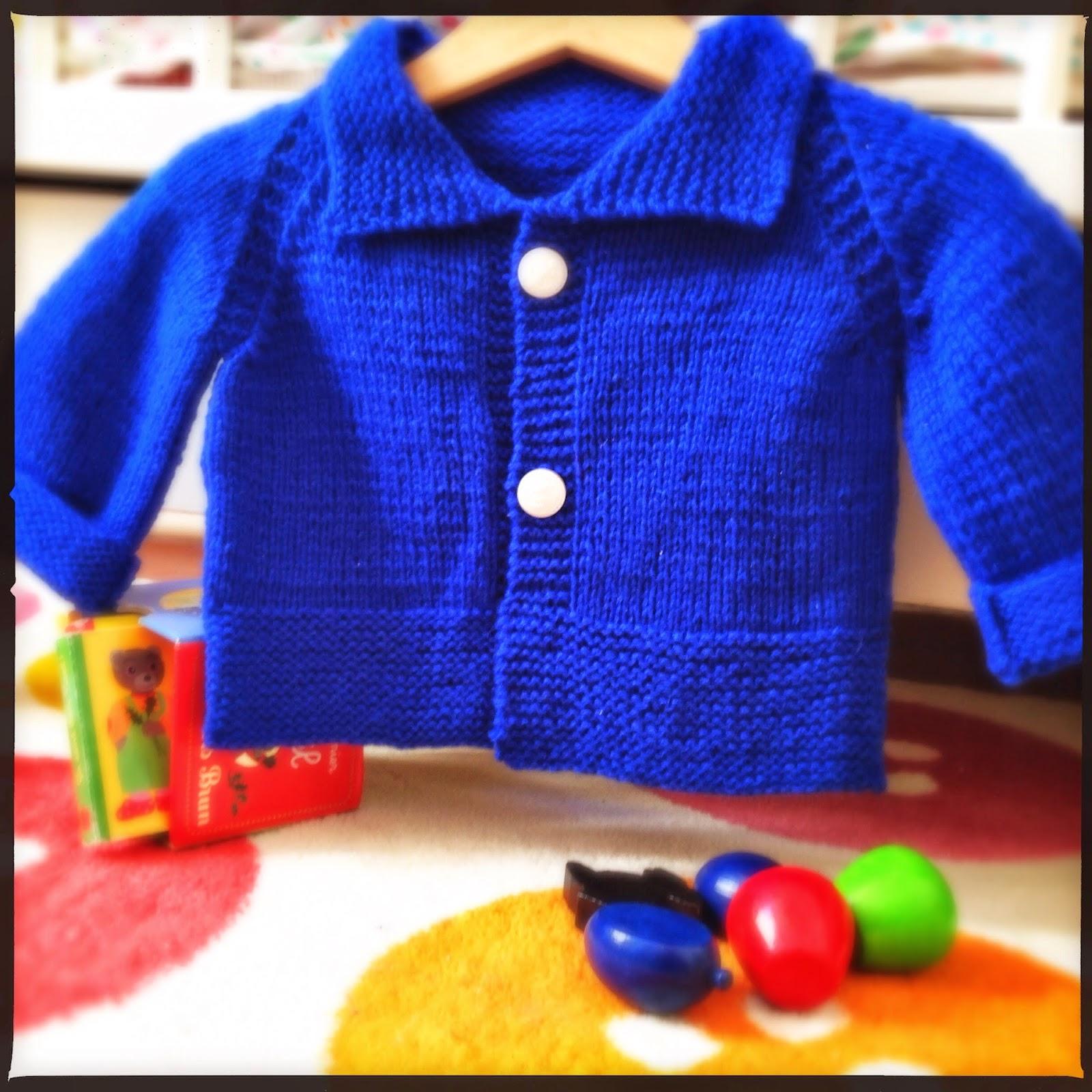 Baby Kimo tricoté en Mérinos roy de la Filature du Valgaudemar