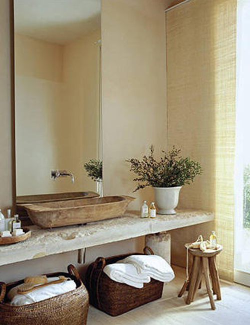 Baños Rusticos De Piedra:Rustic Bathroom with Stone