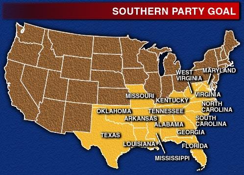Map Usa Southern States - Southern map of usa