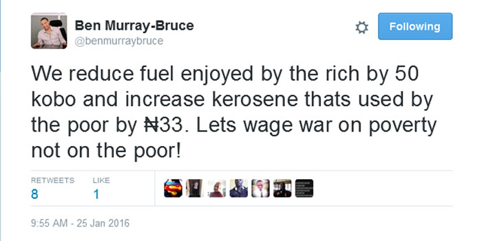 Senator Ben Murray-Bruce Makes Common Sense On Price Of Kero Again (Screenshot)