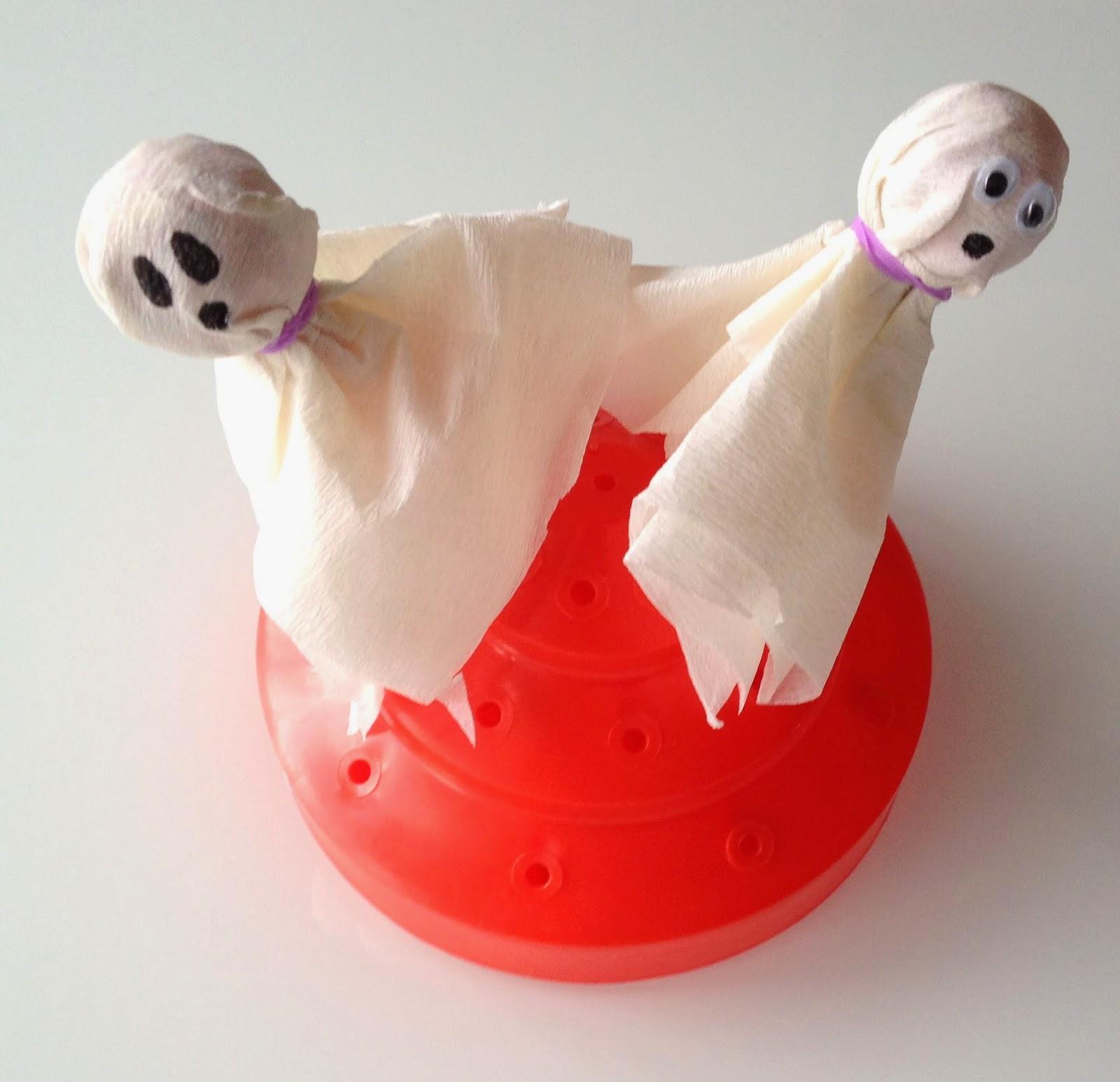 Chupa-Chups decorados de fantasmas