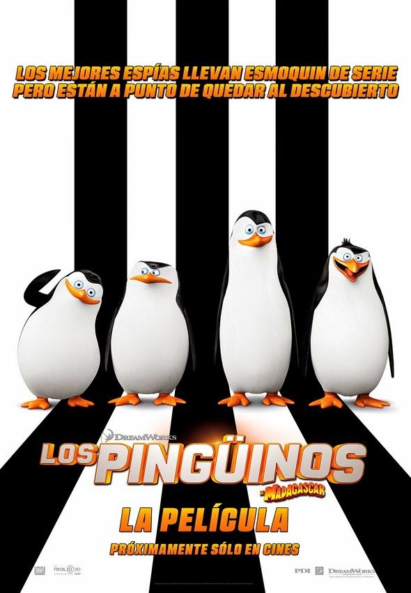 Póster de 'Los Pingüinos de Madagascar: la película', con los cuatro personajes