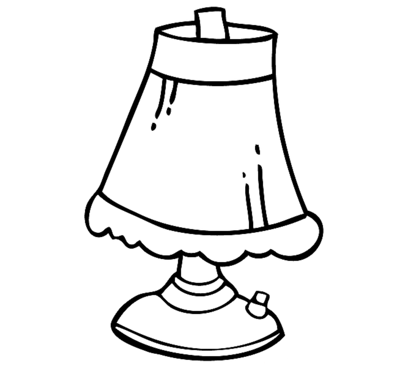 Lamp For Kid Coloring Drawing Free wallpaper