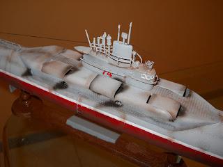 maqueta de submarino lanza-misiles de China