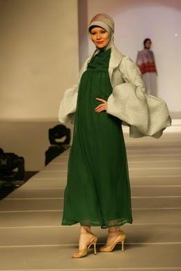 model baju hamil pesta muslim