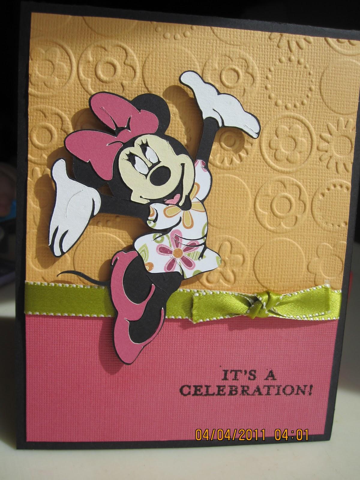 Imagination Attic Minnie Mouse Birthday card