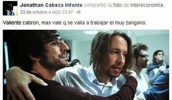 Jonathan Cabeza Infante, concejal del PP, sobre Pablo Iglesias