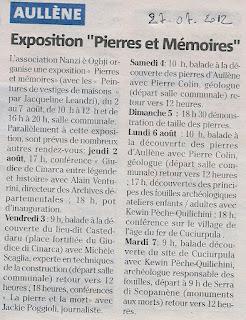 2010 Exposition Pierres et Mémoires