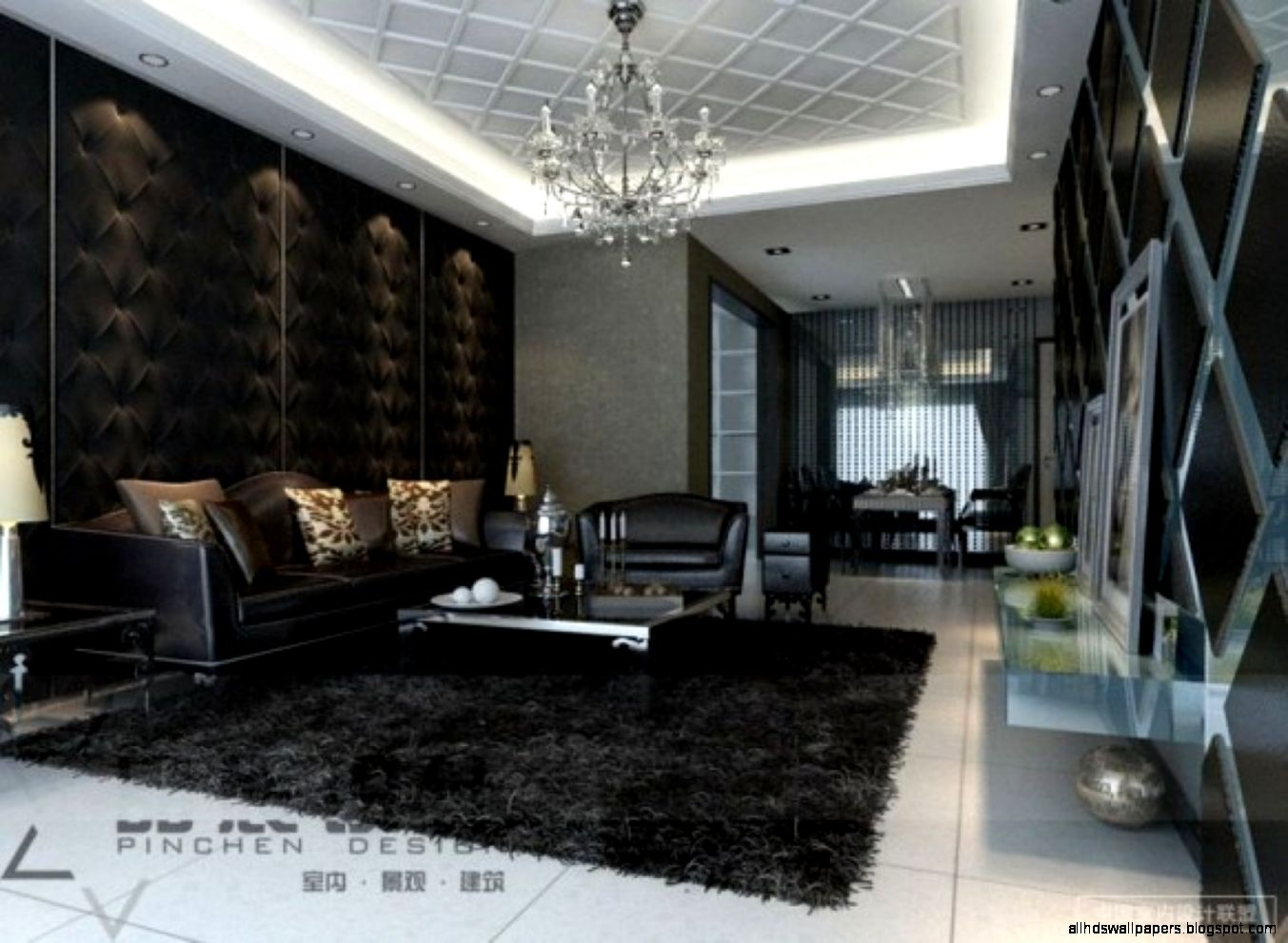 Dark Living Room Feature Walls Wall Ideas Living Room Wallpaper