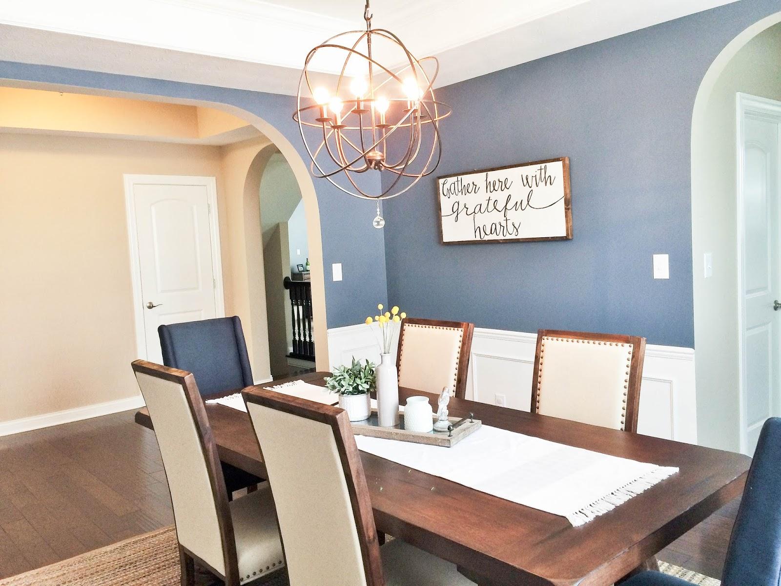 dining room client design - Orb Chandelier Dining Room