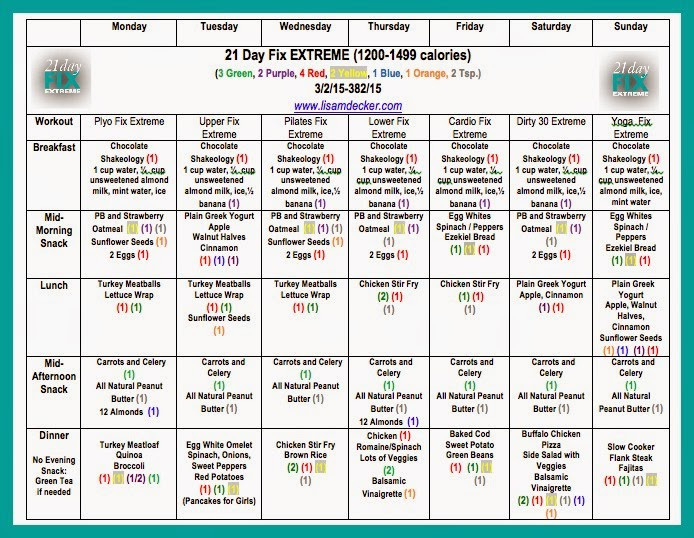 21 Day Fix, 21 Day Fix Extreme, 21 Day Fix Meal Plan, 21 Day Fix Extreme Meal Plan, 21 Day Fix Results