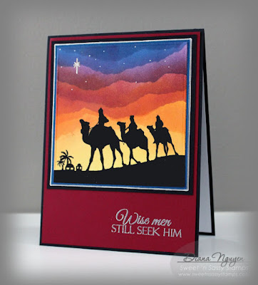 Diana Nguyen, Sweet 'n Sassy Stamps, We three kings, Christmas card