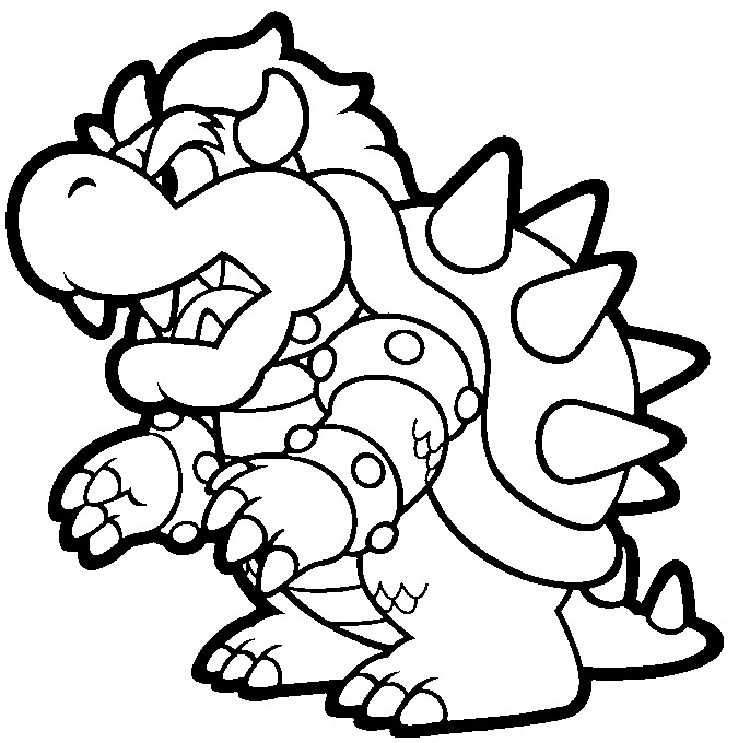 mega mario coloring pages - photo#4