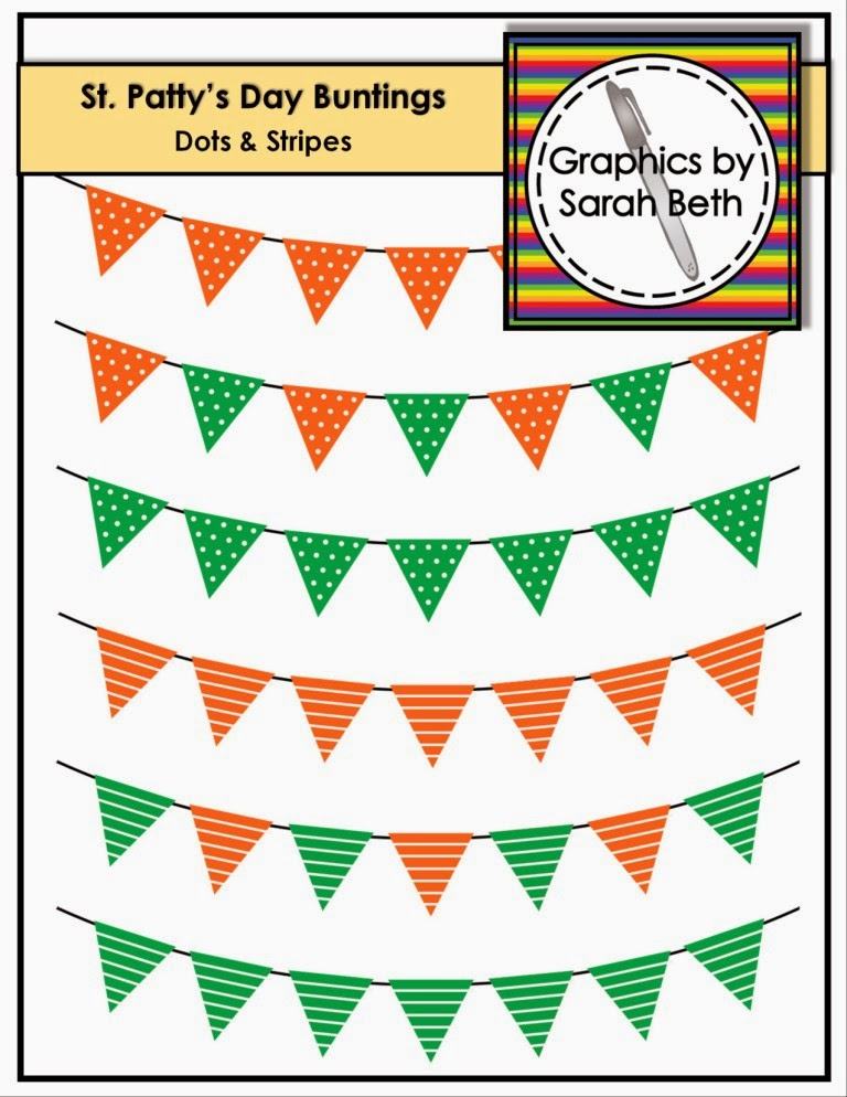 http://www.teacherspayteachers.com/Product/FREE-St-Patricks-Day-Clipart-Buntings-Dotted-Stripes-1151980