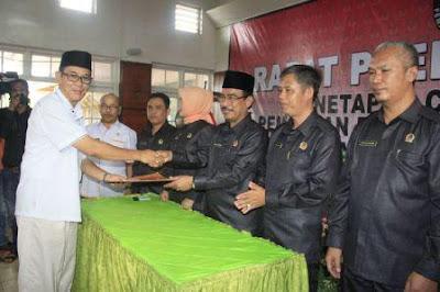 KPUD Tetapkan HAFAL Bupati dan Wakil Bupati Terpilih PALI