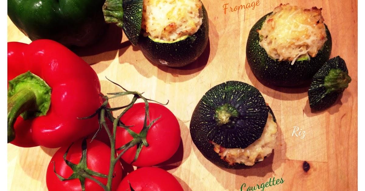 Jenn 39 s cooking courgettes farcies au riz parmesan - Cuisiner courgettes rondes ...