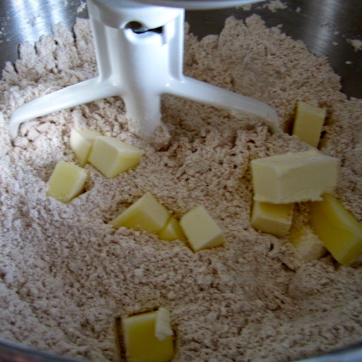 bread dough with butter