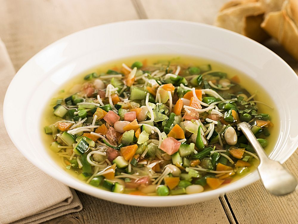 Soupe au Pistou - a hearty vegetable soup richly flavored with Pistou