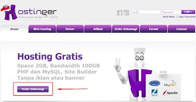 Cara daftar hosting gratis di Idhostinger