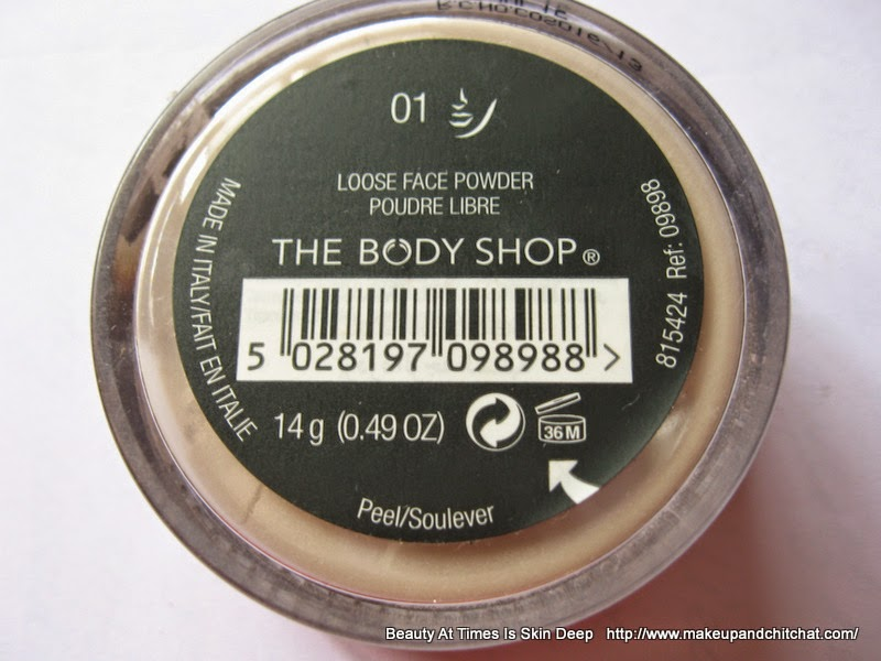 The Body Shop India Loose Face Powder for oily skin