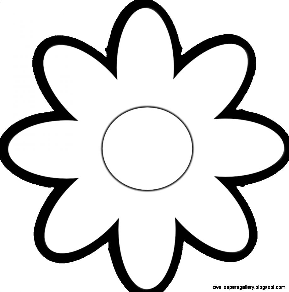 Black And White Daisy Clipart   Clipart Kid