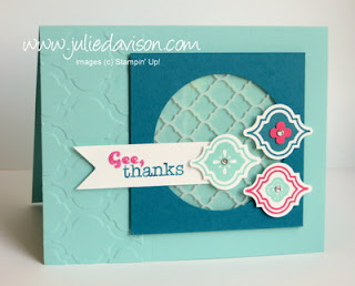 Stampin' Up! Mosaic Madness + Modern Mosaic Embossing Folder www.juliedavison.com