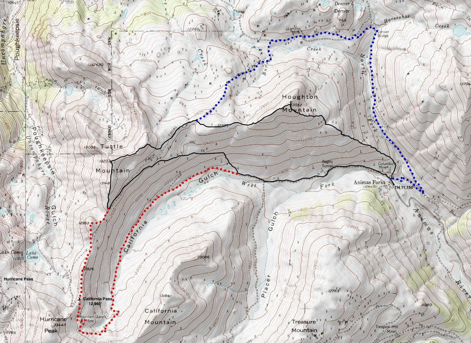 Earthline The American West Houghton Mountain And - Us nationals houghton 2015 course map