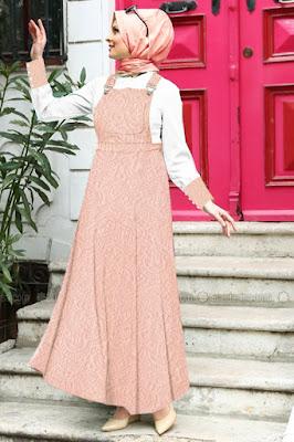Baju Muslim Maryam Embossed Overall Kodok Abaya