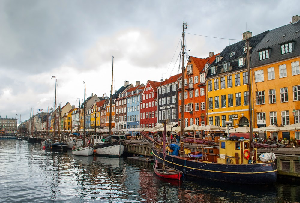 Canals and colour houses along nyhavn copenhagen