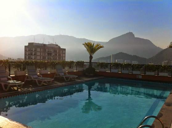 Rooftop pool at Golden Tulip, Rio De Janeiro