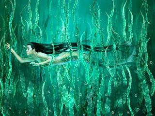 Paisajes Acuaticos con Sirenas de los Mares
