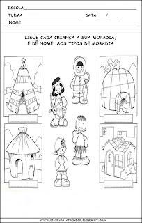 Tipos De Casas Atividades Diferentes Casas Atividades Sobre Tipos De