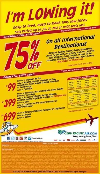 Cebu Pacific International Seat Sale