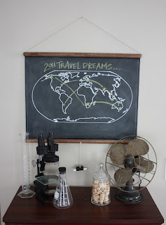 Chalkboard World Map by shopsirtsa on Etsy