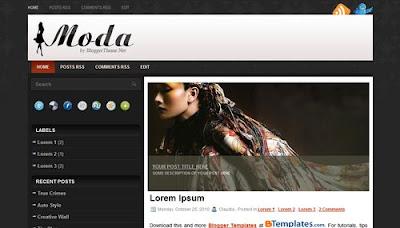 Plantilla moda blogger