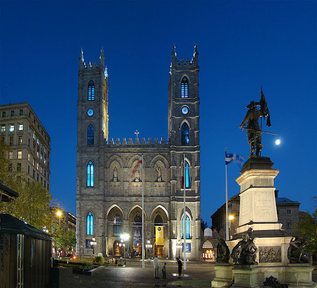 notre, dame, basilica, montreal, old,