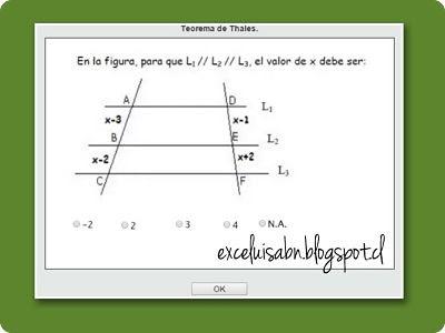 Teorema de Thales.