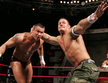 John Cena Randy Orton Gay http://wrestlingworld99.blogspot.com/2011/04/randy-orton-vs-john-cena-2010-images.html