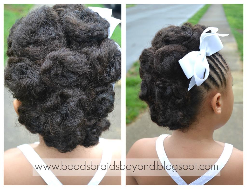 Natural Hair Styles Updos: Cornrow & Cinnabun Updo